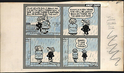 ANDY CAPP Cartoon Comic Strip Original Artwork Daily Mirror Newspaper Reg Smythe • 157.76£