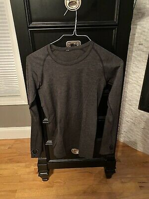 $ CDN34.32 • Buy LULULEMON Run: Swiftly Tech Long Sleeve Size 6 Heathered Black/gray  Thumbholes