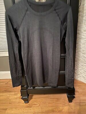 $ CDN34.32 • Buy LULULEMON Run: Swiftly Tech Long Sleeve Size 6 Heathered Charcoal Thumbholes