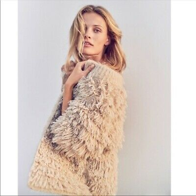 $ CDN10.18 • Buy Knitted & Knotted For Anthropologie Talah Cardigan Sweater Wool Nylon XXS