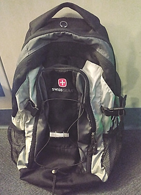 Swiss Gear Back Pack MINT CONDITION 18  Black With Dark Gray Trim GORGEOUS! • 34.33£