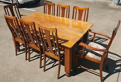 AU450 • Buy 8 Seater Antique Dining Table - Solid Timber
