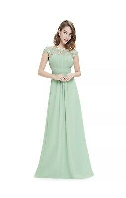 Ever-Pretty Lace Long Bridesmaid Dresses Wedding Ball Evening Prom Gown Sz Uk 12 • 31£