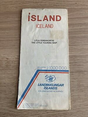 Iceland - Island Map - 1985 - Landmaelingar Islands • 4£