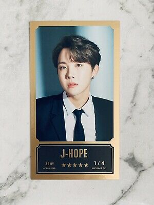 AU18 • Buy BTS Bang Bang Con The Live Official Message Photocard J-HOPE 1/4