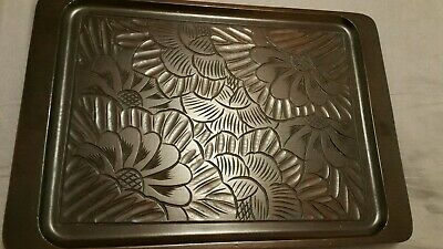 Chinese Carved Wood Tray.Beautiful Piece • 10£