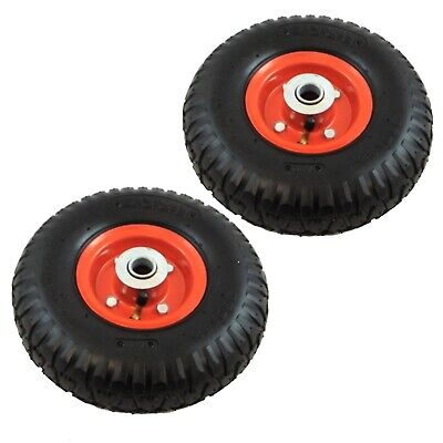£15.99 • Buy 2X10  Pneumatic Sack Truck Trolley Wheel Barrow 4ply Tyre 120kg Weight Load Red