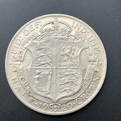 1920 George V Silver Half Crown,  VF Silver Coin +++ Free UK P & P +++  2/6d • 36£