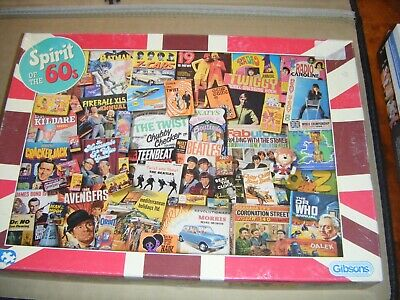 Gibsons - Spirit Of The 60's Jigsaw Puzzle - Complete. 1000 Pieces • 10£