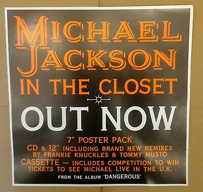 Michael Jackson - In The Closet - 1992 Out Now Epic CD 12  7  Poster Original • 0.99£