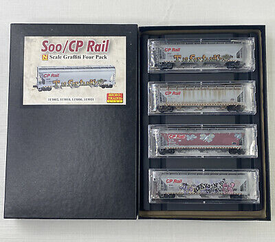 AU174.33 • Buy Micro-Trains N Scale 993 05 340 Weathered & Graffitied Soo/CP Rail 4-pack New