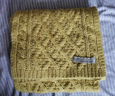 Seasalt Yellow Long Soft Cable Knit Scarf  • 13.50£