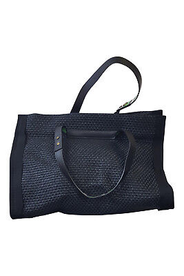 LANVIN Black Woven Coated Canvas Tote Bag (L) • 399.99£