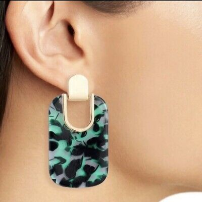 $ CDN28.07 • Buy NWT Kate Spade Green Drop Printed Earrings