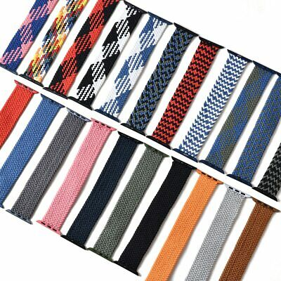 AU6.99 • Buy For Apple Watch Band Series 6 5 4 3 SE Fabric Nylon Braided Strap 38/40/42/44
