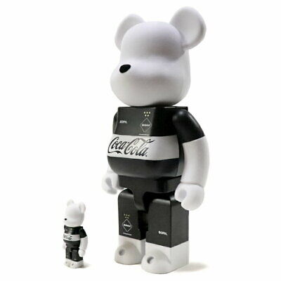 $422.31 • Buy Medicom Toy Bearbrick Fc Real Bristol Coca Cola 100% 400% Black Figure F/s