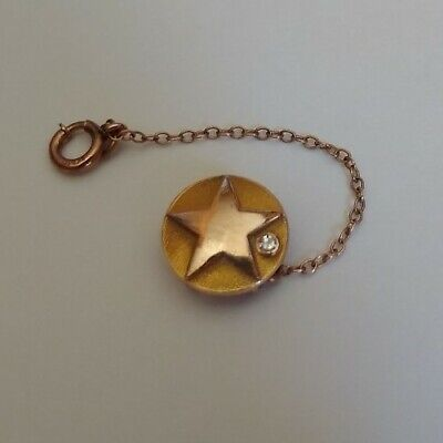 $89.99 • Buy Vintage 10K Solid Gold Star Circle Diamond Solitaire Mens Tie Tack Pin Military