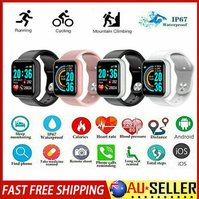 AU14.49 • Buy Bluetooth Smart Watch Heart Rate Health Blood Pressure Monitor Fitness Tracker