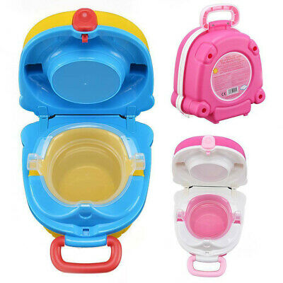 Portable Kids Toilet Seat Child Baby Toddler Training Potty Car Travel Seat UK • 12.98£