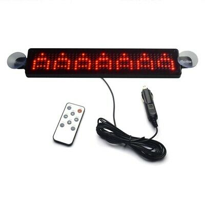 12V Car LED Programmable Message Sign Scrolling Display Board With Remote ( • 20.58£