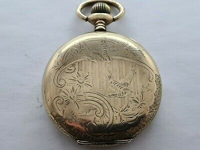 Antique 1902  Elgin U.S.A  Full Hunter Gold Plated Pocket Watch Working Rare • 185£