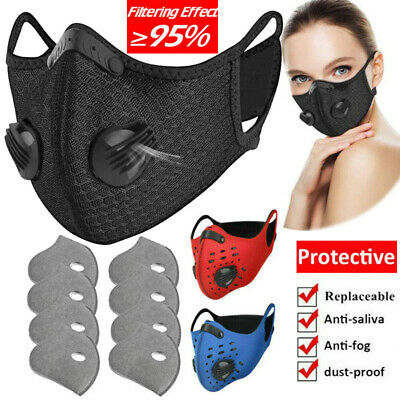 Dustproof Cycling Face Mask/Filter Half Face Outdoor Sprots Mouth Cover Reusable • 8.64£