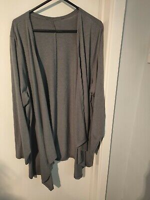 Ladies Yours Grey Waterfall Cardigan  Size 22/24 • 3£
