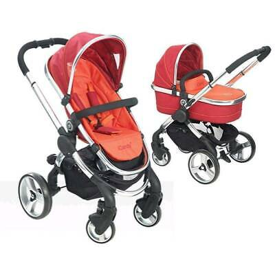 ICandy Peach Stroller & Carrycot Pram System- Tomato • 119£