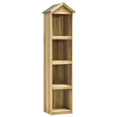 VidaXL Wooden Garden Tool Shed Impregnated Pinewood 4 Storage Shelves Natural • 50.99£