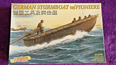 Dragon 6108 1:35 German Sturmboat W/Pioniere Model Kit *Contents SEALED IN BAGS* • 21.99£