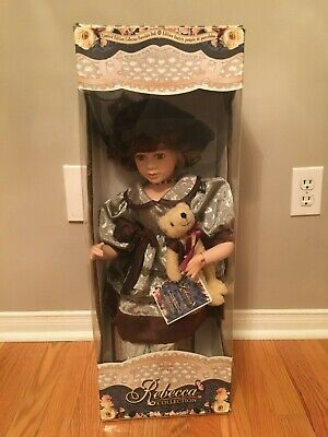 $ CDN59.99 • Buy Rebecca Collection Limited Edition Porcelain Doll With Teddy Bear!