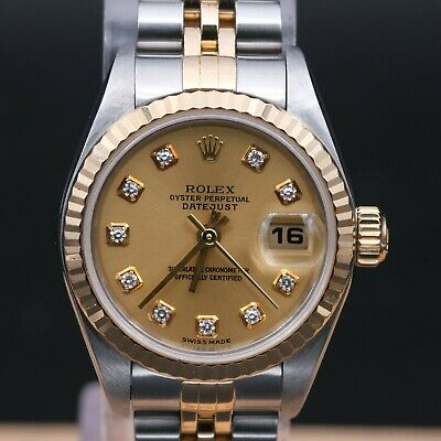 $ CDN4938.53 • Buy Authentic Mint Rolex Datejust  Ref 79173 Y Series, Diamond Dial, Rl_029313