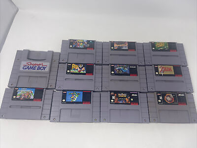 $ CDN90.43 • Buy Super Nintendo SNES Game Lot - 10 Games And Super Game Boy