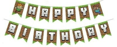 AU12 • Buy Minecraft Happy Birthday Banner Party Decorations