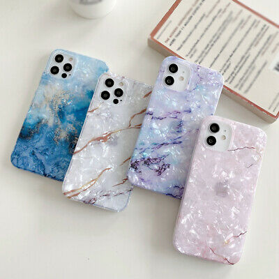 AU5.79 • Buy For IPhone 12 11 Pro Max XS XR 8 7 X Marble Shell Silicone TPU Soft Case Cover