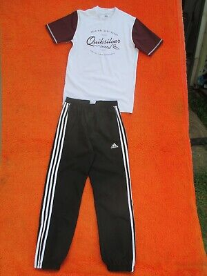 AU9.99 • Buy Boys  Adidas  Light Track Pants And  Quilsilver   T-shirt In Size 12y