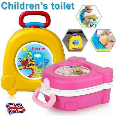 Portable Baby Toddler Potty Kids Children Training Toilet Trainer Stool Wth Lid • 13.98£