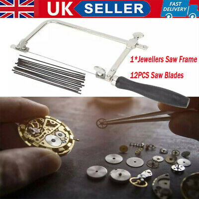 UK Adjustable Jewellers Piercing Saw Frame Jewellery Making Tool With Saw Blade • 10.76£