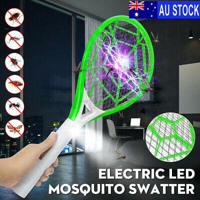 AU13.89 • Buy AU Bug Zapper LED Electric Racket Mosquito Fly Swatter Insect Killer Recharge~