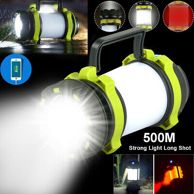 AU26.95 • Buy Camping Torch Rechargeable LED Tent Light Spot Shot Hiking Outdoor Power Bank