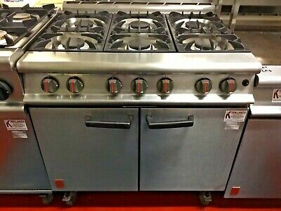 Falcon Natural Gas 6 Burner Cooker Oven Range Commercial Catering • 849.99£