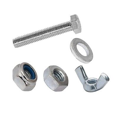 £4.60 • Buy Set Screws Full Thread Bolts With Nuts And Washers M5  M6 M8  Bzp Bolt
