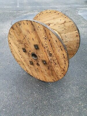 Wooden Cable Drum Reel Top With Prints Ideal As Garden,Coffee Table, Clock Small • 10£