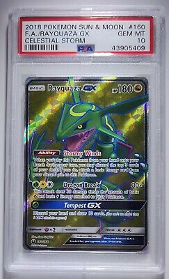 $ CDN398.82 • Buy Pokemon Rayquaza Gx S&m Celestial Storm Full Art Holo 2018 #160 Psa 10