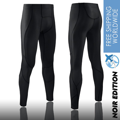 Mens Compression Tights Pants V3000 Gym Running Multi Sports Skins Recovery Noir • 33.32£