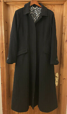 £99 • Buy LAURA ASHLEY Vintage Wool Cashmere Full Length Riding Coat 18 Fit Flare Long