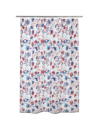 £6.99 • Buy Ikea KRATTEN Shower Curtain 180x180cm ✅ NEW 🔝 FAST DELIVERY Floral Print