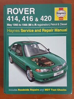 Rover 414, 416 & 420 (1995 - 1998)  Haynes Service And Repair Manual 3453 • 4.50£