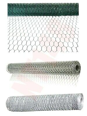 Galvanised Wire Netting Chicken Rabbit Garden Diy Mesh Fencing Farm Roll Barrier • 11.99£
