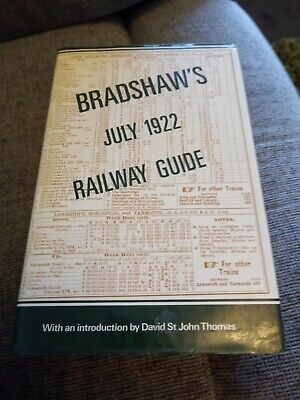Bradshaws July 1922 Railway Guide Published 1985 • 28£